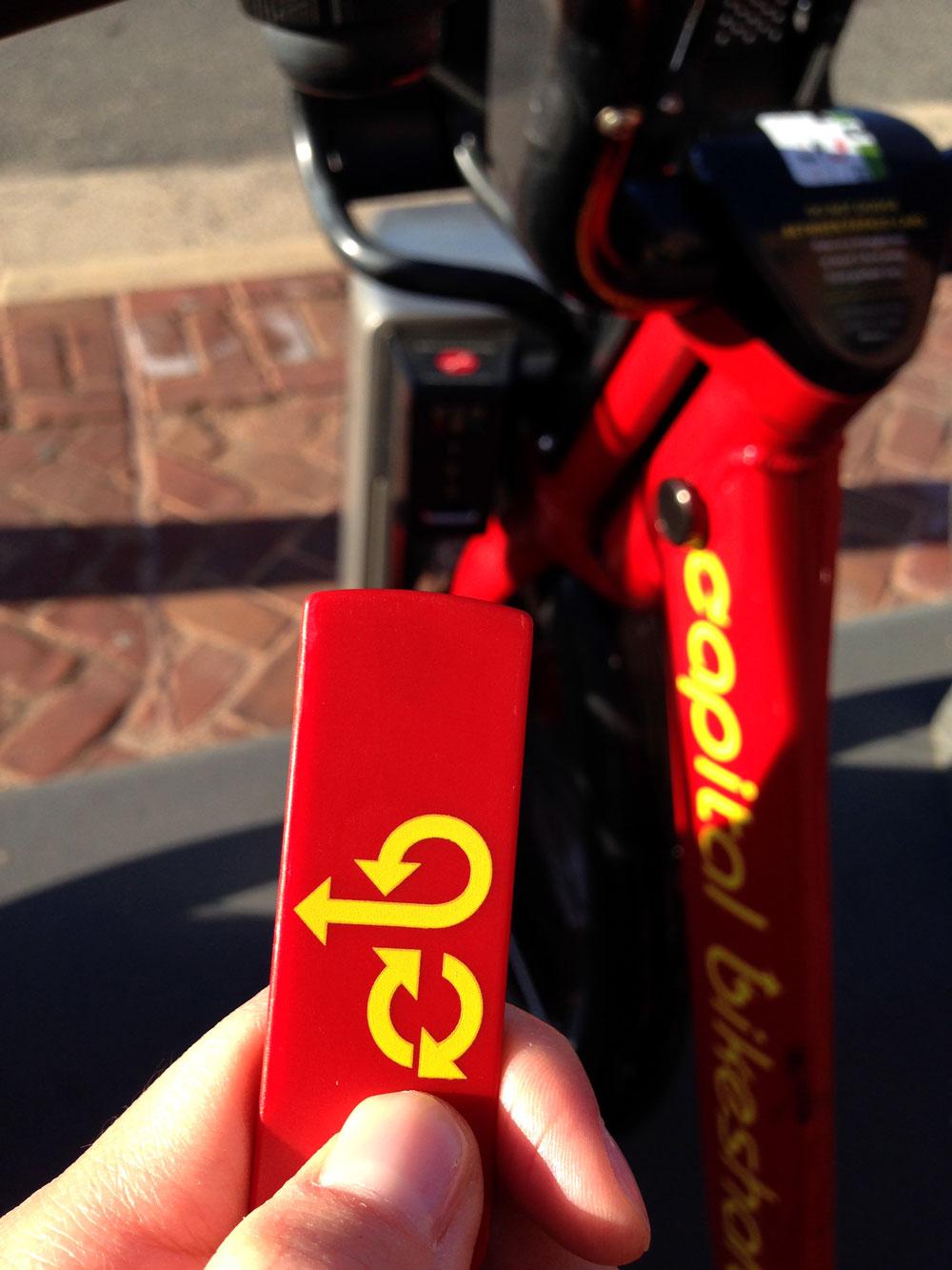 Capital Bike Shareの鍵, ワシントンDC生活 自転車, バイクシェア, レンタル