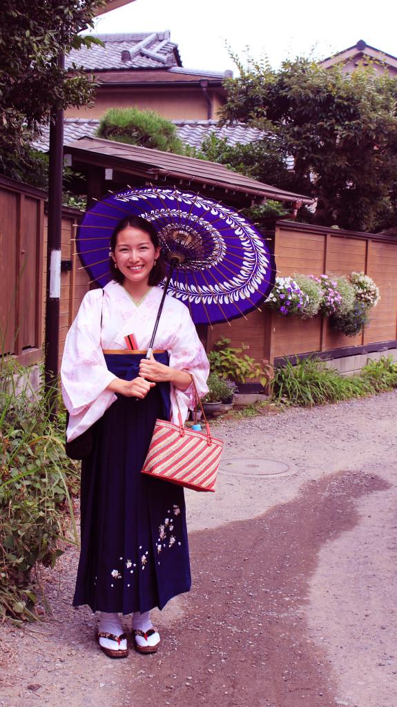 袴姿で鎌倉散歩-袴レンタル