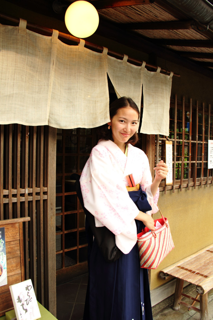 袴姿で鎌倉散歩-わらびもち
