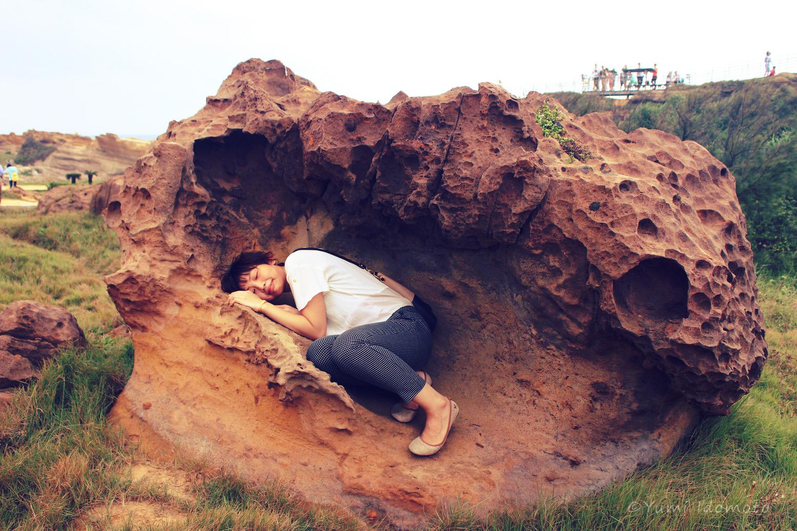 台湾旅行記-野柳(イェーリウ)風景特定区-こんな面白い岩も