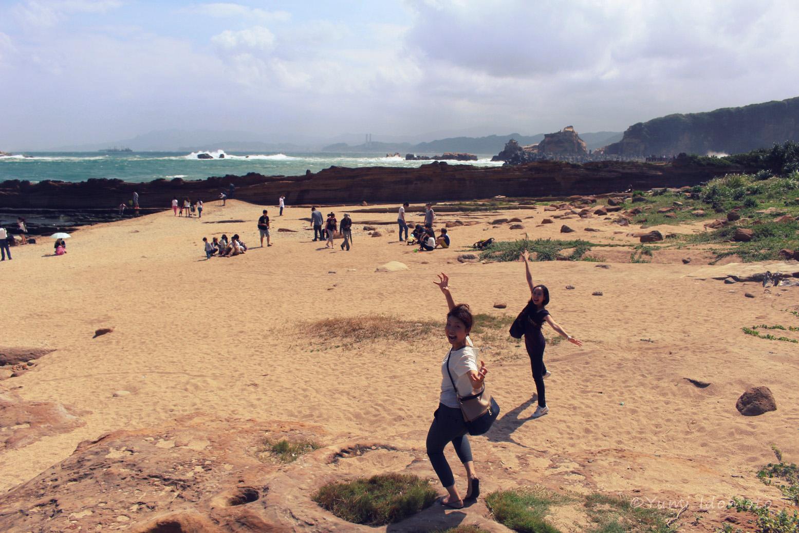 台湾旅行記-野柳(イェーリウ)-砂浜