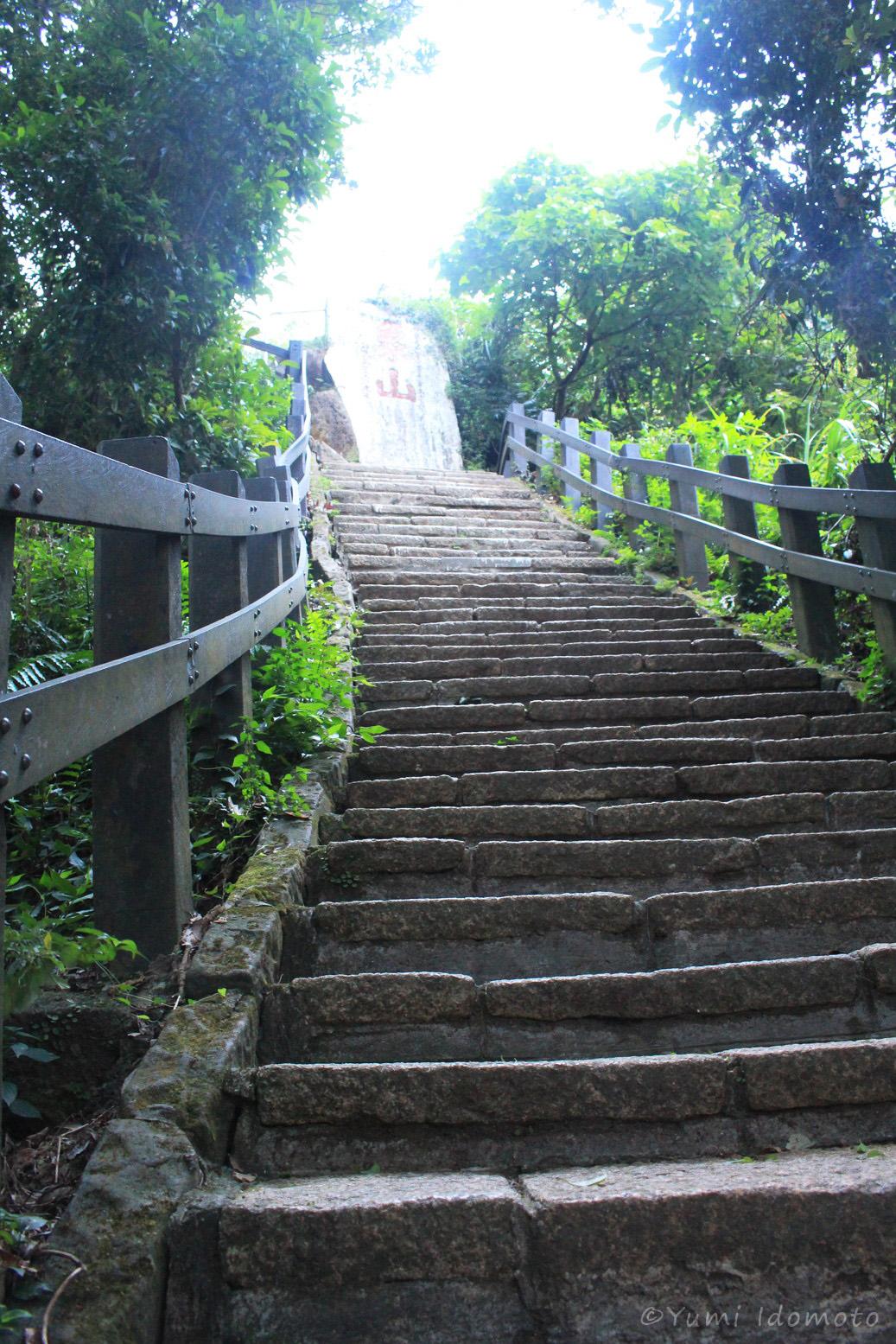 台北で山登り-階段きつい-象山プチハイキング