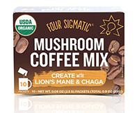 Cordiceps-Four Sigmatic, Mushroom Coffee Mix-マッシュルームコーヒー-ライオンズメイン(ヤマブシタケ)