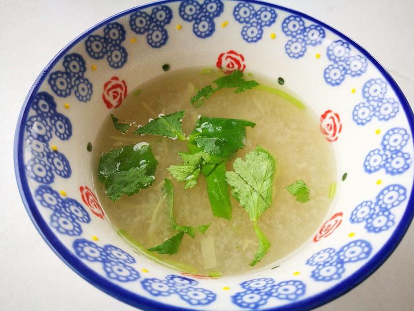 筋トレ料理教室 ~野菜をたっぷり食べようの会~-れんこんすり流し汁