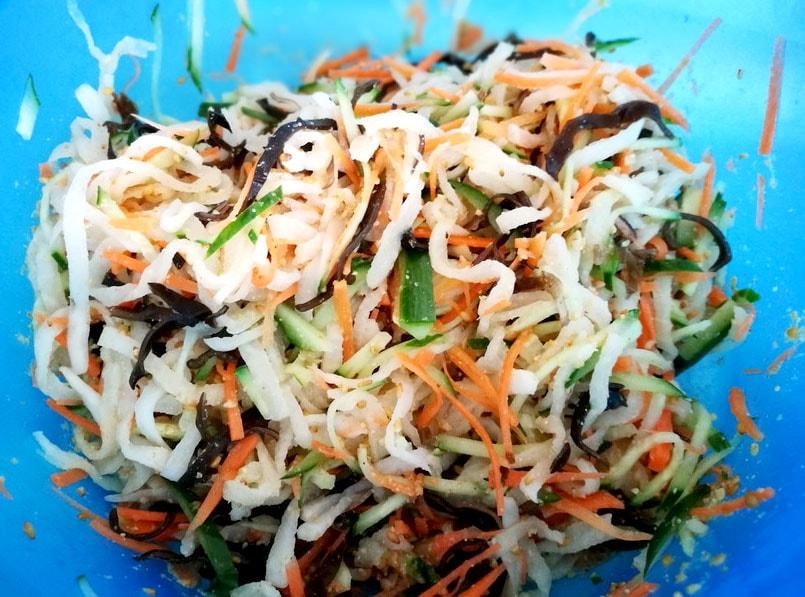 筋トレ料理教室 ~野菜をたっぷり食べようの会~-ごま酢あえ