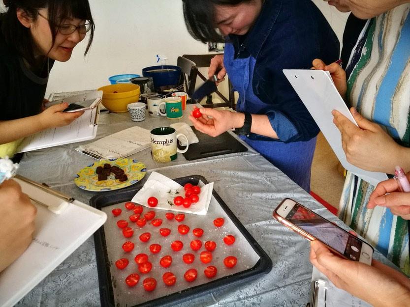 筋トレ料理教室 ~野菜をたっぷり食べようの会~-ドライトマトの作り方