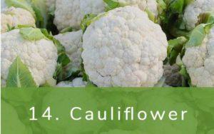 カリフラワー-Clean Fifteen(クリーンフィフティーン)-野菜って全て有機(オーガニック)がいいの?農薬の影響を受けやすい野菜と果物リスト