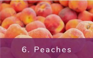 桃-Dirty Dozen(ダーティーダズン)-野菜って全て有機(オーガニック)がいいの?農薬の影響を受けやすい野菜と果物リスト