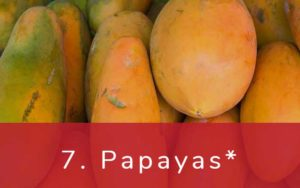 パパイヤ-Clean Fifteen(クリーンフィフティーン)-野菜って全て有機(オーガニック)がいいの?農薬の影響を受けやすい野菜と果物リスト