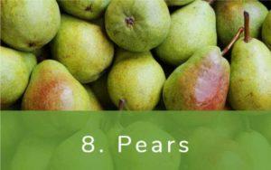 洋梨-Dirty Dozen(ダーティーダズン)-野菜って全て有機(オーガニック)がいいの?農薬の影響を受けやすい野菜と果物リスト