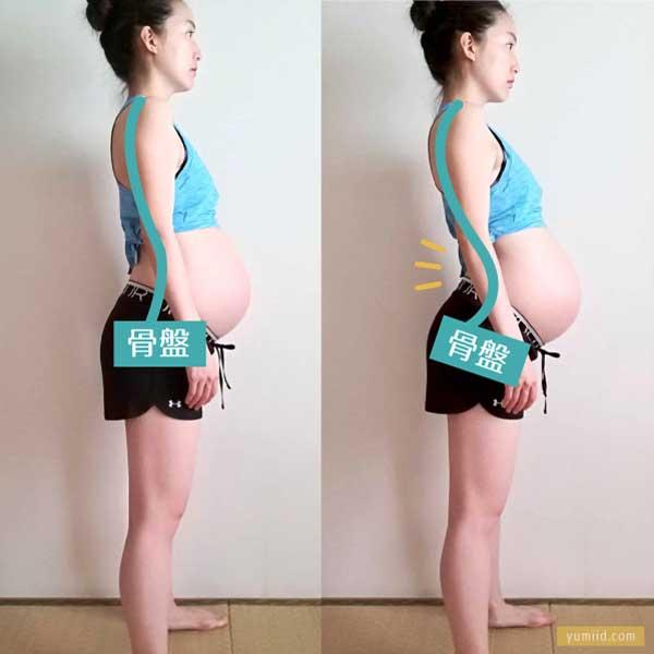 姿勢比較-妊娠中に腰痛予防のために気を付けていたこと&妊婦の正しい姿勢と腰痛対策