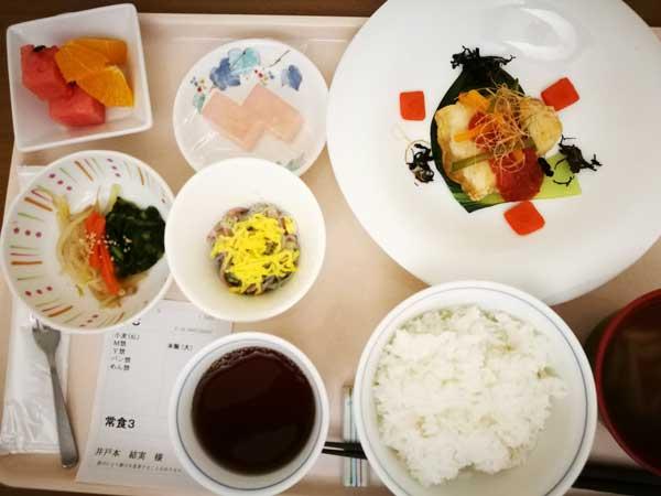 病院食・夕食-産後の便秘はつらいよ…便秘予防のため気を付けたこと対処法まとめ-yumiid.com