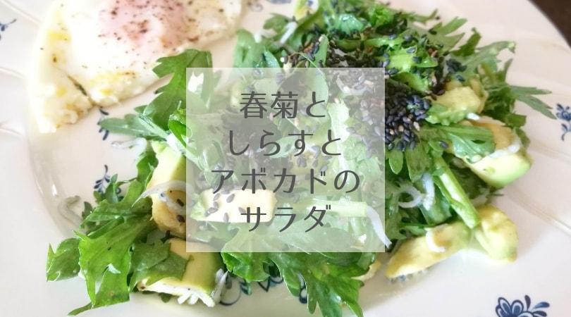 生春菊としらすとアボカドのサラダ