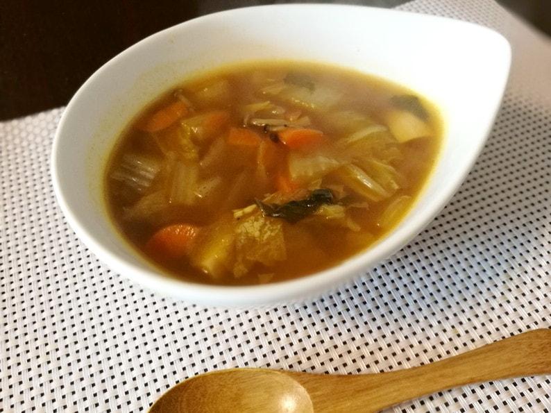 スープカレー-たんぱく質&食物繊維がいっぱい摂れる!ゆで鶏&野菜たっぷり鶏がらスープのレシピ