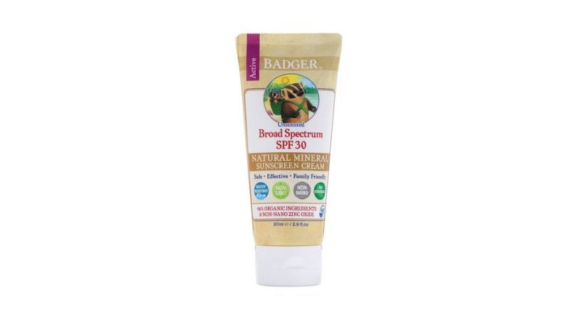 Badger Company, Zinc Oxide Sunscreen Cream SPF 30