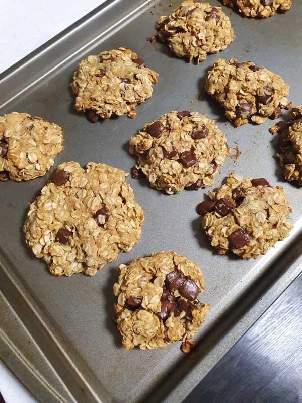 チョコレートバージョン サクサク感がたまらないオートミールクッキーの作り方!グルテンフリー&白砂糖フリー