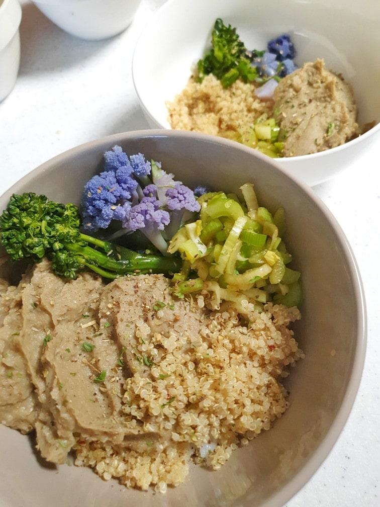レンズ豆のフムス&キヌワボウル たんぱく質補給もできる!レンズ豆(レンティル)のフムス