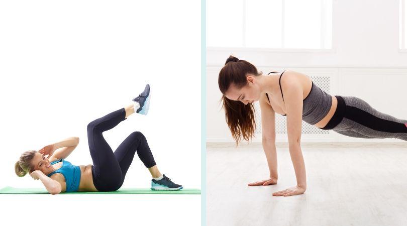 クランチとプランク 妊娠中は腹筋運動をしていいの?注意点と妊婦さんにおすすめの体幹筋トレ!